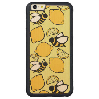 Bees and Lemons for Lemonade Carved® Maple iPhone 6 Plus Bumper Case
