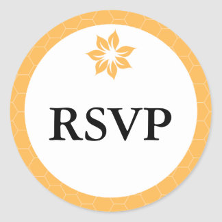 Beeswax Honeycomb Yellow RSVP Stickers