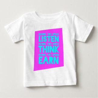 Before You Speak, Listen – Before You Write, Think Tee Shirt