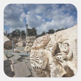Beit She-An National Park, Roman-era ruins Square Sticker