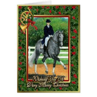 Belgian Warmblood Dressage Horse Christmas Card
