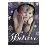 Believe Snowflakes | Folded Holiday Greeting Card