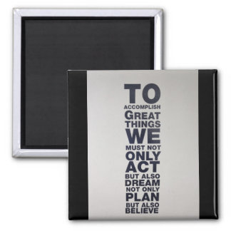believe square magnet