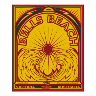 BELLS BEACH VICTORIA   AUSTRALIA SURFBREAK SURFING POSTER
