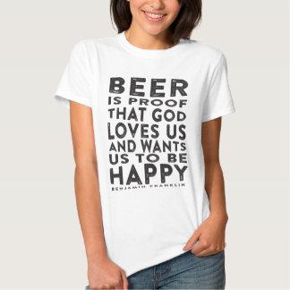 Ben Franklin Beer Quote - Dark Design Tees