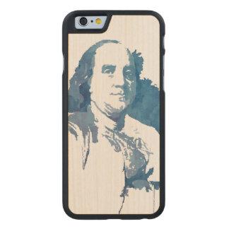 Ben Franklin Pop Art Portrait in Blue Carved® Maple iPhone 6 Slim Case