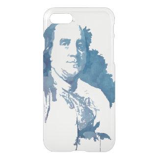 Ben Franklin Pop Art Portrait in Blue iPhone 7 Case
