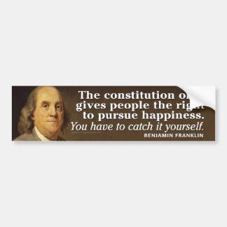 Ben Franklin Quote on the Constitution Bumper Sticker