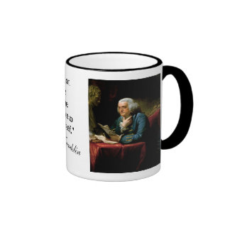 "Ben Franklin Quote ""The U. S. Constitution..."" Ringer Mug"