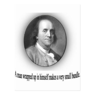 Ben Franklin with Quote Postcard