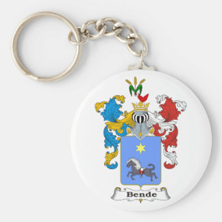 Bende Family Hungarian Coat of Arms Basic Round Button Key Ring