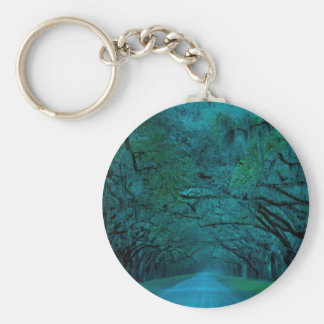BENDING TREES - ULTRA BLUE BASIC ROUND BUTTON KEY RING