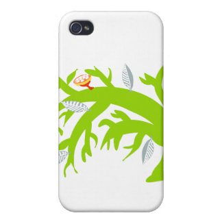 Bent Tree, green Cases For iPhone 4