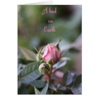 Bereavement card, rose bud greeting card