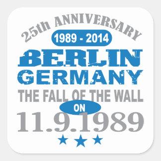 Berlin Wall Germany 25 Year Anniversary Square Sticker
