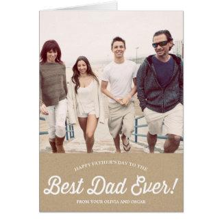 Best Dad Script   Karaft Paper Father's Day Card