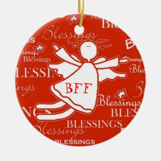 Best Friend Angel Blessings Christmas Ornament