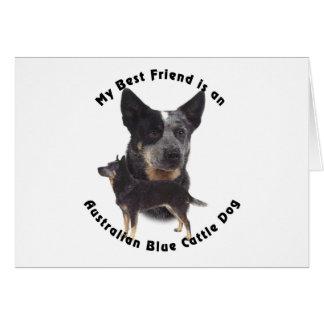 Best Friend Australian Blue cattle Dog Greeting Card