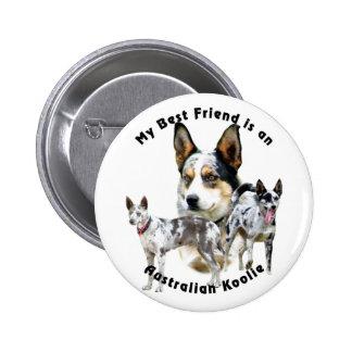 Best Friend Australian Koolie Merle 6 Cm Round Badge