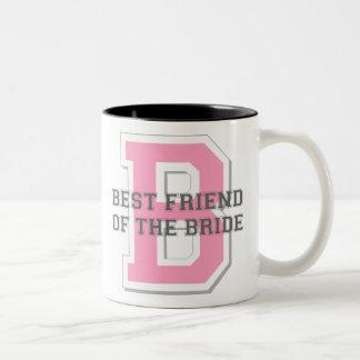 Best Friend of the Bride Cheer Two-Tone Mug