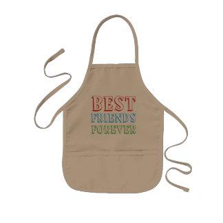 Best friends forever, kids apron
