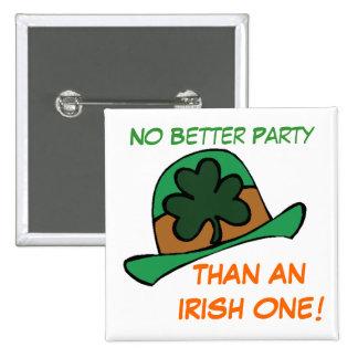Best Irish Party Shamrock Hat St. Patrick's Day 15 Cm Square Badge