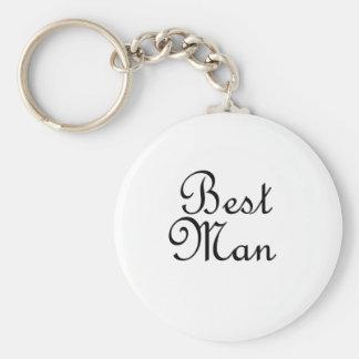 Best Man Basic Round Button Key Ring