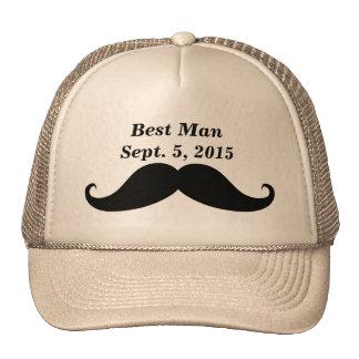 Best Man Mustache Truckers Hat