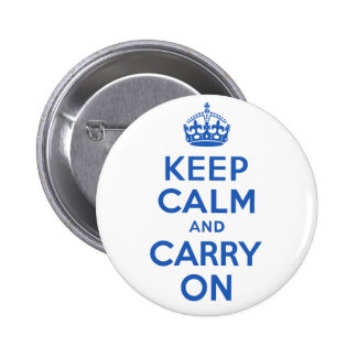 Best Price Keep Calm And Carry On Blue 6 Cm Round Badge