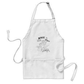 beware the hard fish apron