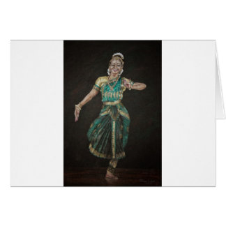 Bharatanatyam Dancer Greeting Card