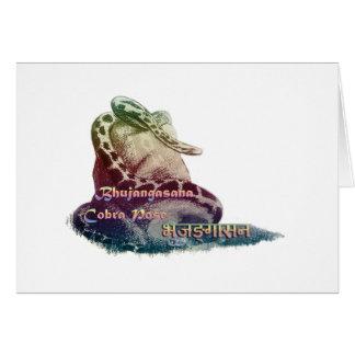 Bhujangasana ~ Yoga Cobra Pose Greeting Card