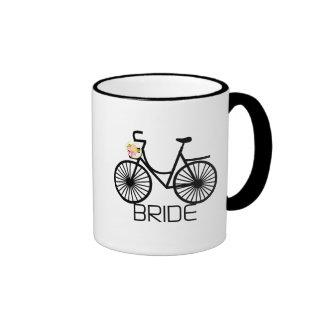 Bicycle Bride Tshirts and Gifts Ringer Mug