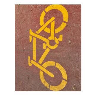 bicycle stencil postcard
