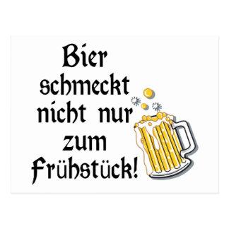 Bier schmeckt nicht nur zum Frühstück! Postcard