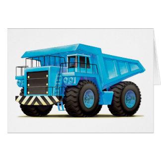Big Blue Dump Truck Greeting Card