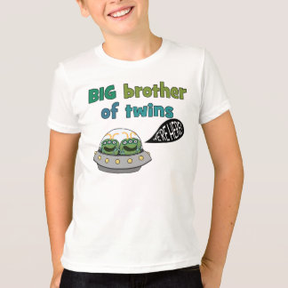 """BIG Brother of Twins """"We're Here!"""" T Shirts"""