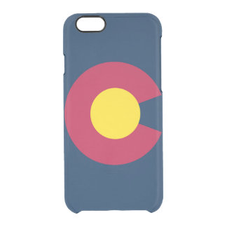 Big C State Pride Colorado Flag Graphic Clear iPhone 6/6S Case