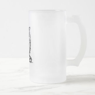 big eyes baby cat frosted glass mug