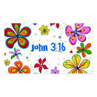 Big Flowers Scripture Memory Cards Bulk Pack Of Standard Business Cards