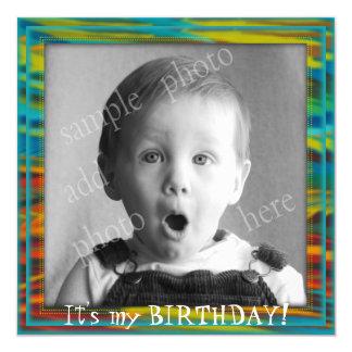 Big Photo Little Boy's Birthday Party Invitation