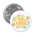 Big Sister Flower Butterfly Button