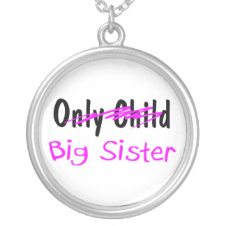 Big Sister Round Pendant Necklace