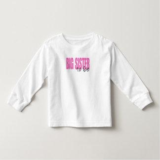 Big Sister To Be (Pink Block Font) Toddler T-Shirt