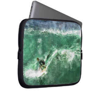 Big Wave Surfing Laptop Computer Sleeves
