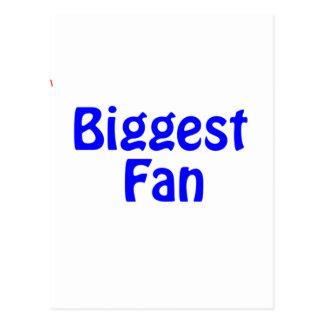 biggest fan postcard