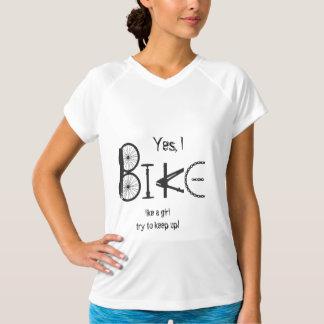 Bike like a Girl Funny Quote Graffiti Bike Parts Tshirt