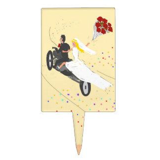 Biker Wedding Cake toppers