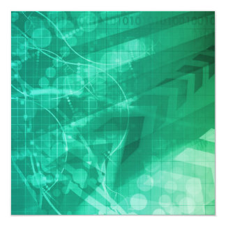 Biology Cells and Modern Medical Technology as Art 13 Cm X 13 Cm Square Invitation Card