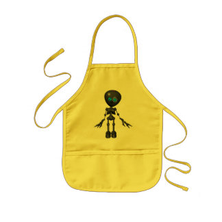 Bionic Boy 3D Robot - Looking Forward Kids Apron